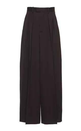Wide-Leg Wool Trouser