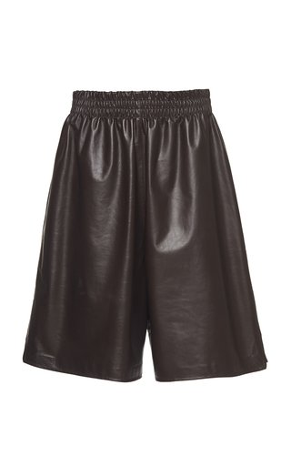 Long Leather Shorts