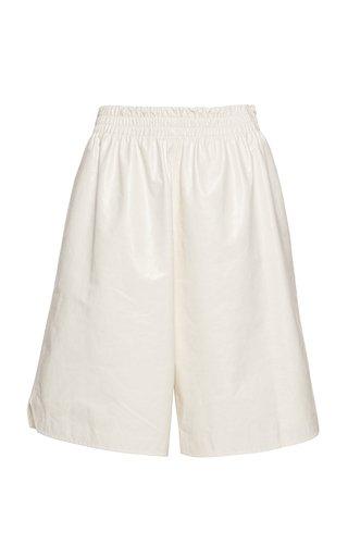Long Leather Shorts