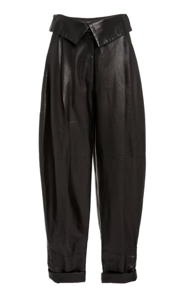 Leather Tapered Pants