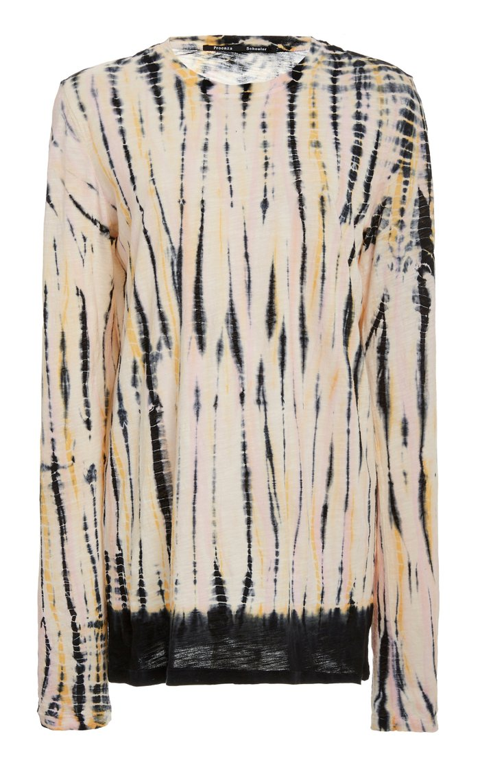 Tie-Dyed Cotton Long-Sleeve T-Shirt