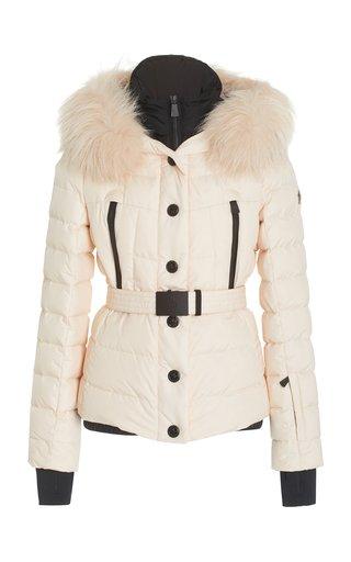 Beverley Belted Fur-Trimmed Down-Filled Shell Jacket