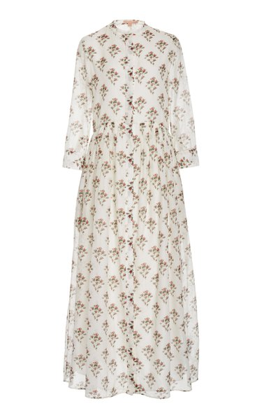 Floral-Print Cotton-Silk Dress