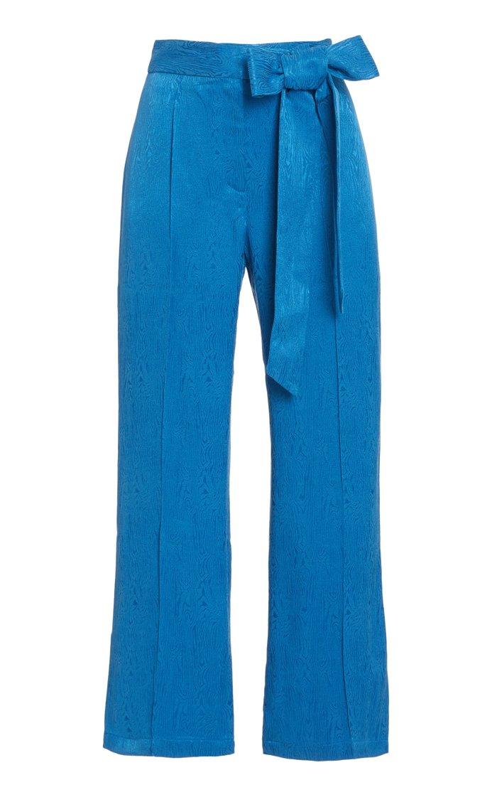 Gemma Moiré Cropped Trousers