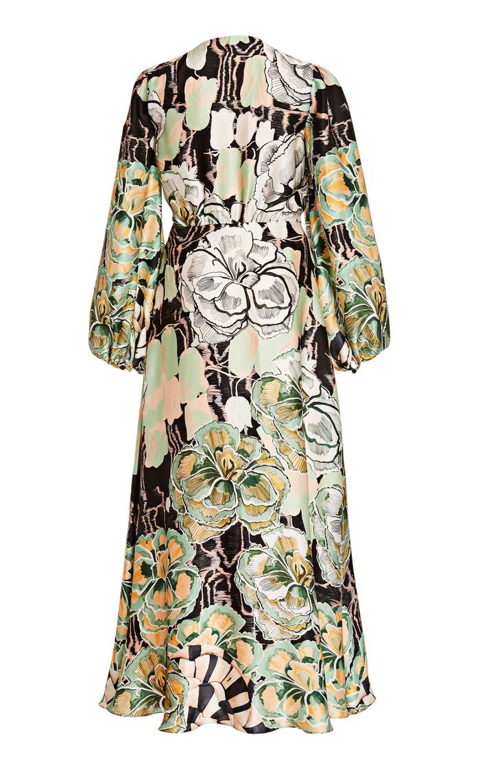 Missy Floral Silk Maxi Dress