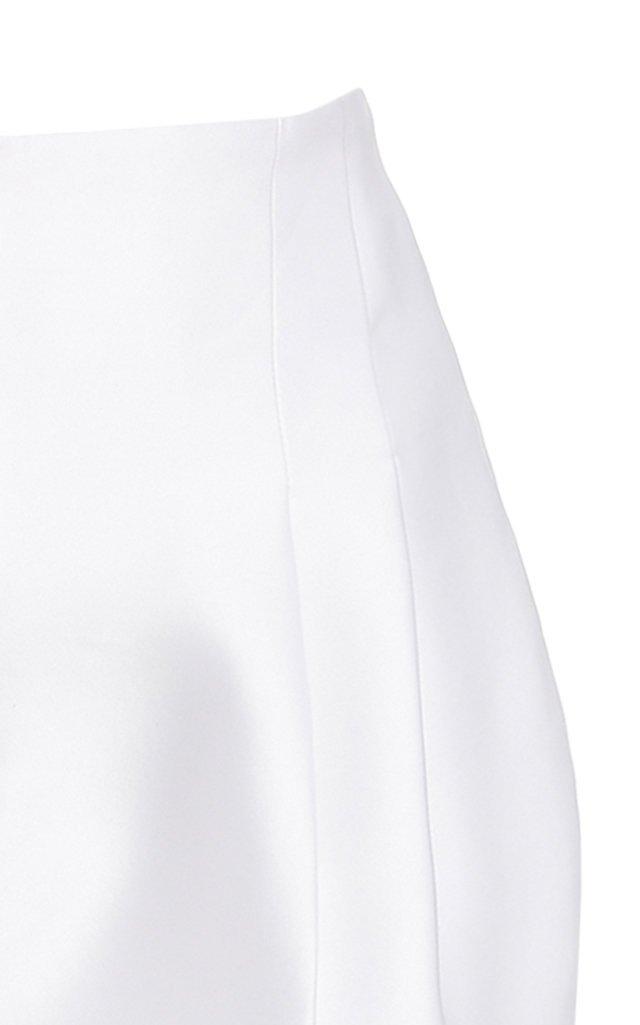Pleated High-Rise Silk Pants