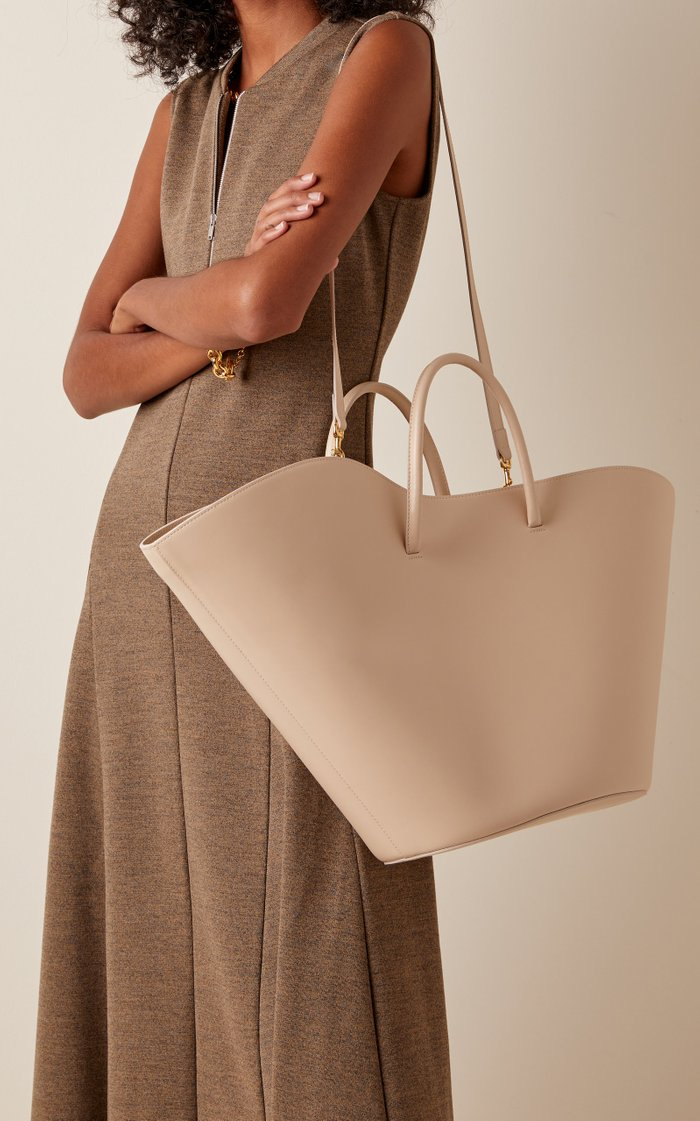 Tulip Leather Tote Bag