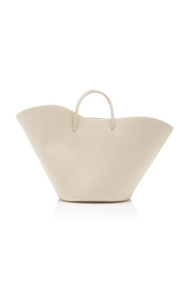 Tulip Leather Tote Bag