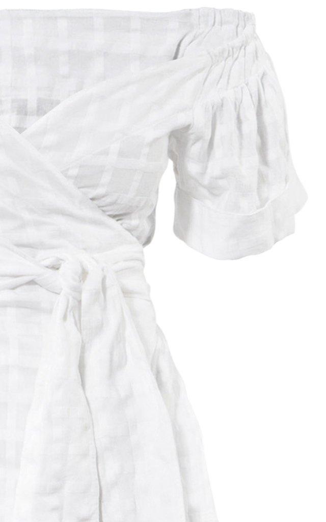 Adelina Organic Cotton Maxi Off-The-Shoulder Wrap Dress