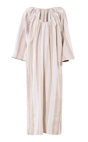Luz Striped Tencel-Cotton Maxi Dress