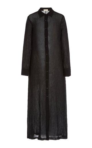 Cinzia Organic Linen-Cotton Maxi Shirt Dress