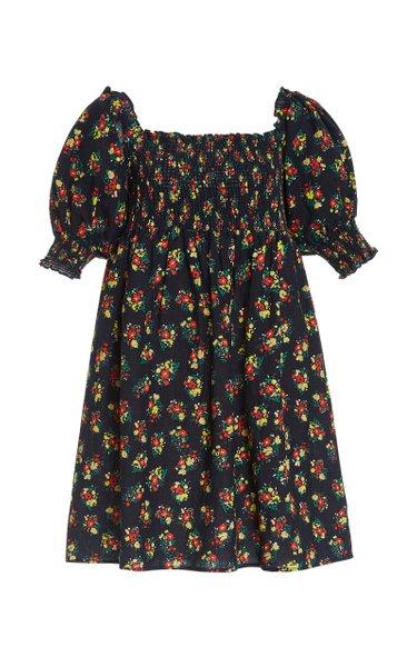 Brenda Floral-Print Cotton-Blend Mini Dress
