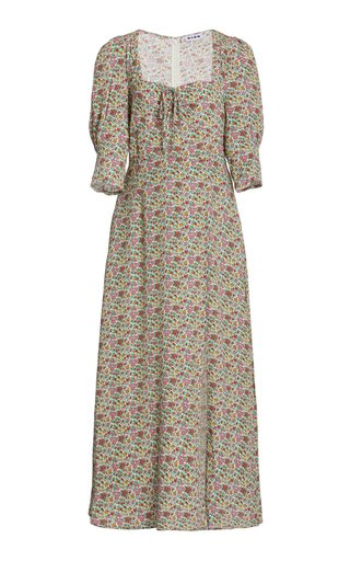 Naomi Floral Crepe Midi Dress