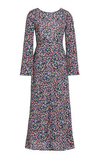 Mimi Smudge-Printed Crepe Dress