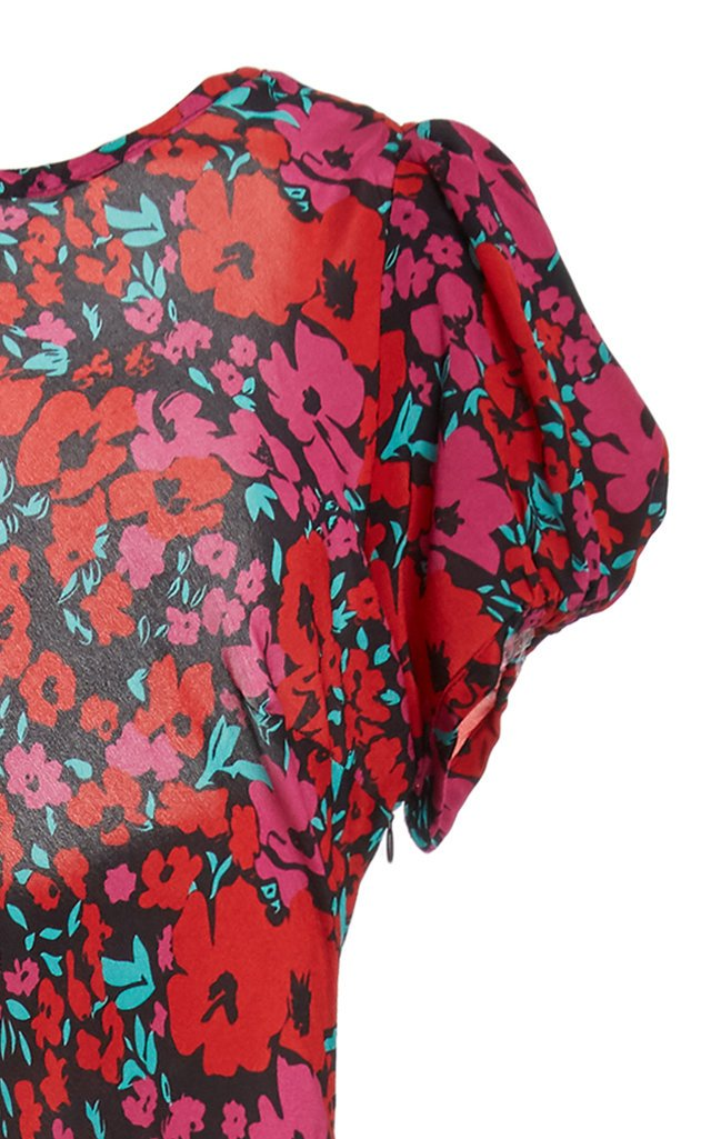 Reese Floral-Print Silk Dress