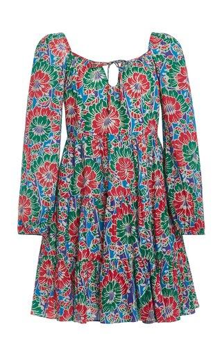 Roxy Floral-Print Cotton-Blend Mini Dress