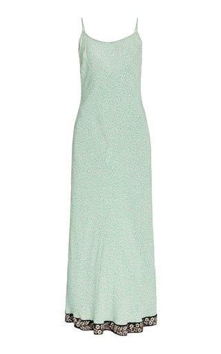 Holly Satin-Crepe Slip Dress