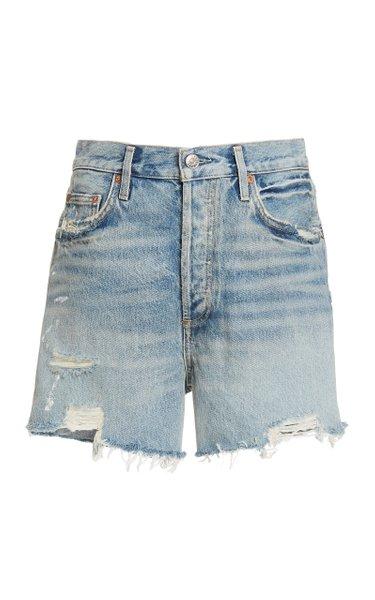 Dee Rigid High-Rise Distressed Shorts