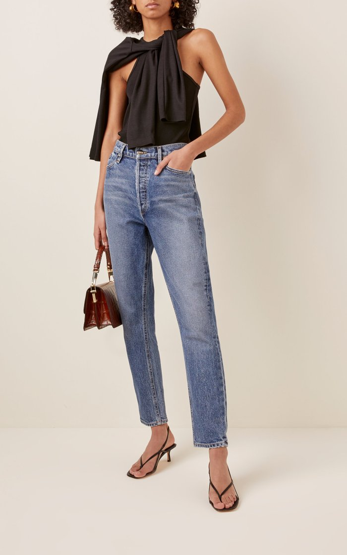 The High-Rise Slim Stretch Jeans
