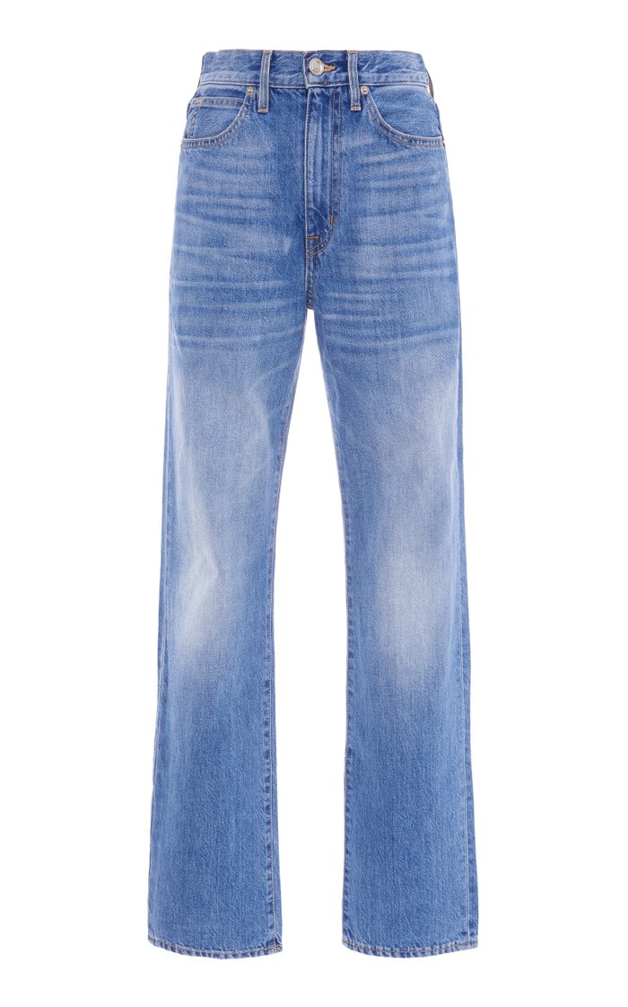 London Stretch High-Rise Straight-leg Jeans