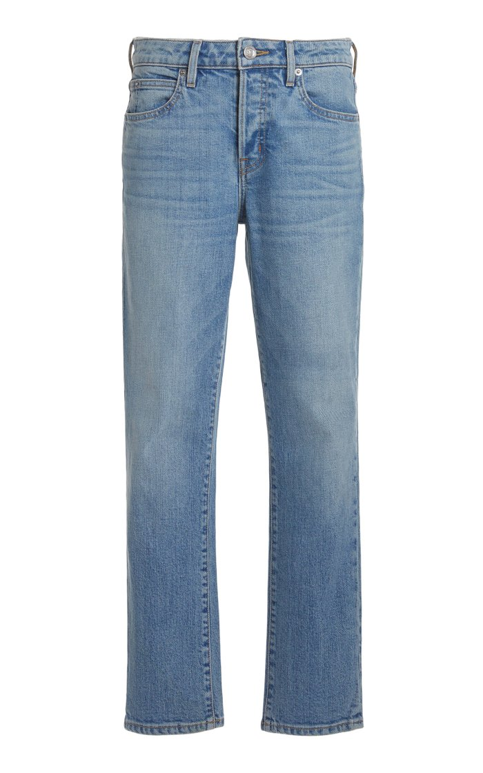 Lou Lou Stretch Mid-Rise Slim-Leg Jeans