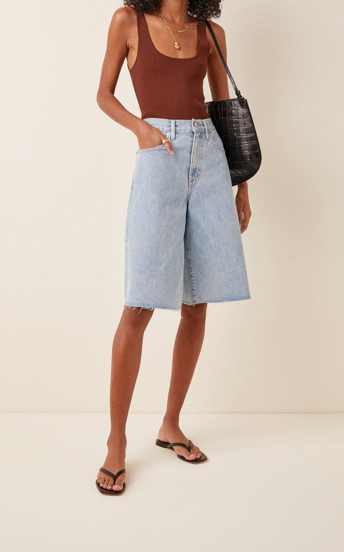 Grace Rigid High-Rise Denim Shorts