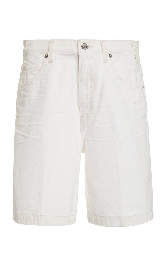 Rosa Wide-Leg Denim Shorts
