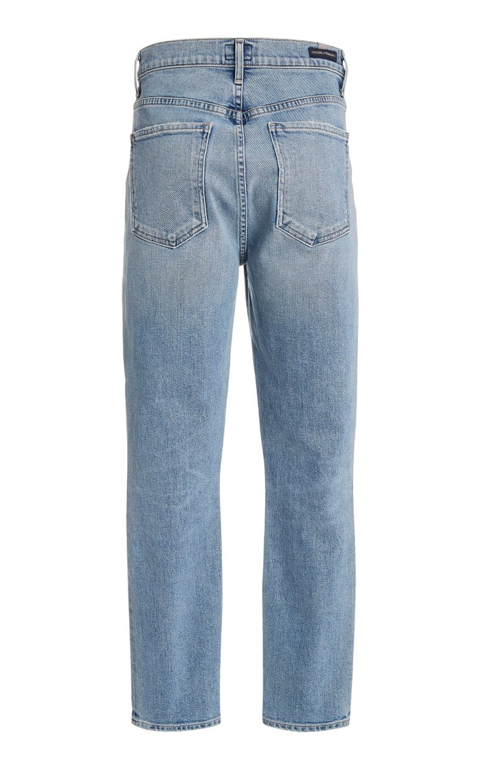Mia Stretch High-Rise Slim-Leg Jeans