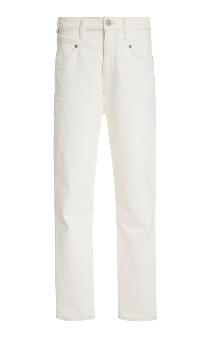 Mia Stretch High-Rise Slim-Leg Jeans