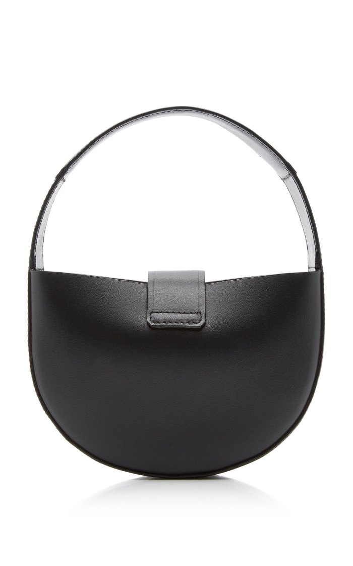 Demi Lune Mini Leather Top Handle Bag