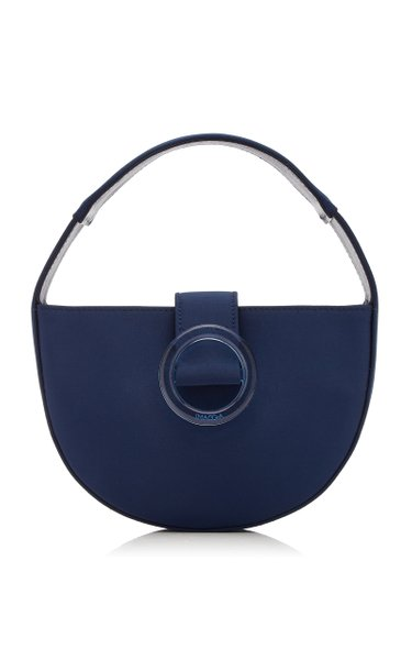 Demi Lune Mini Satin Top Handle Bag