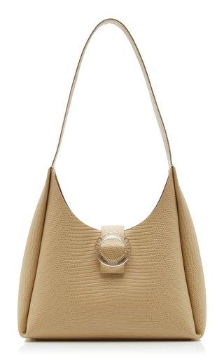 Plis Lizard-Effect Leather Shoulder Bag