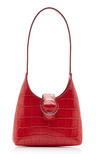 Lucite Croc-Effect Leather Shoulder Bag