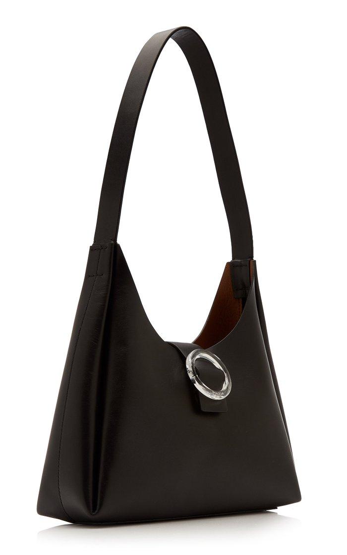Plis Leather Shoulder Bag