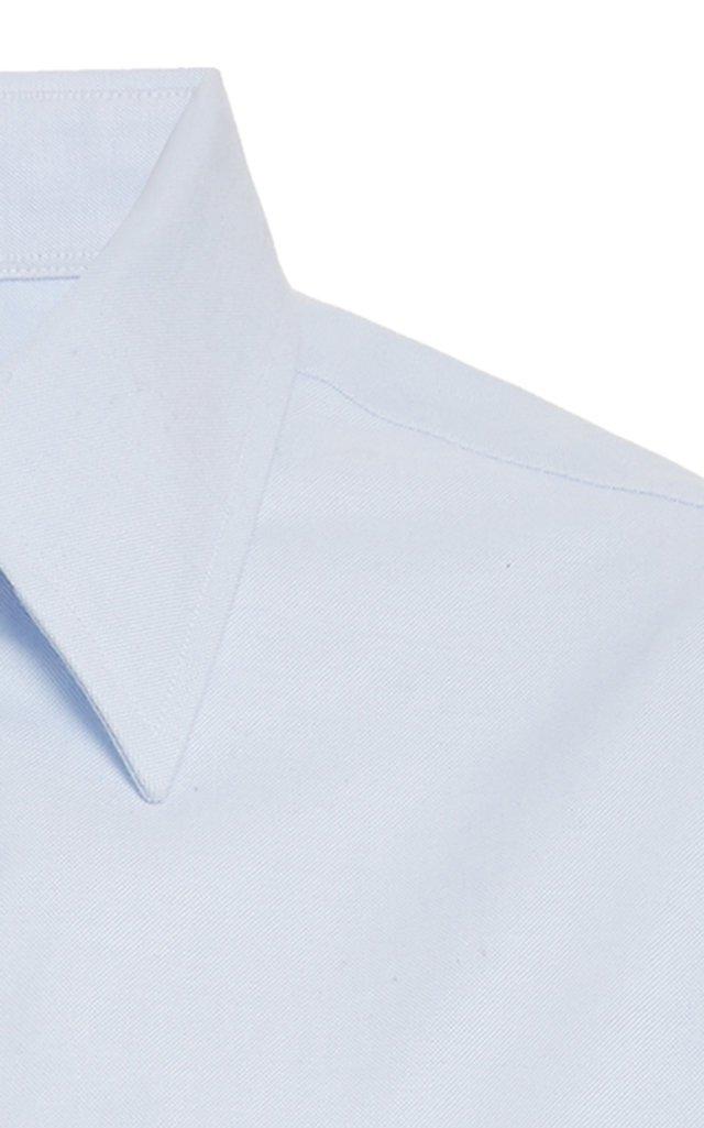 Cropped Button-Down Shirt