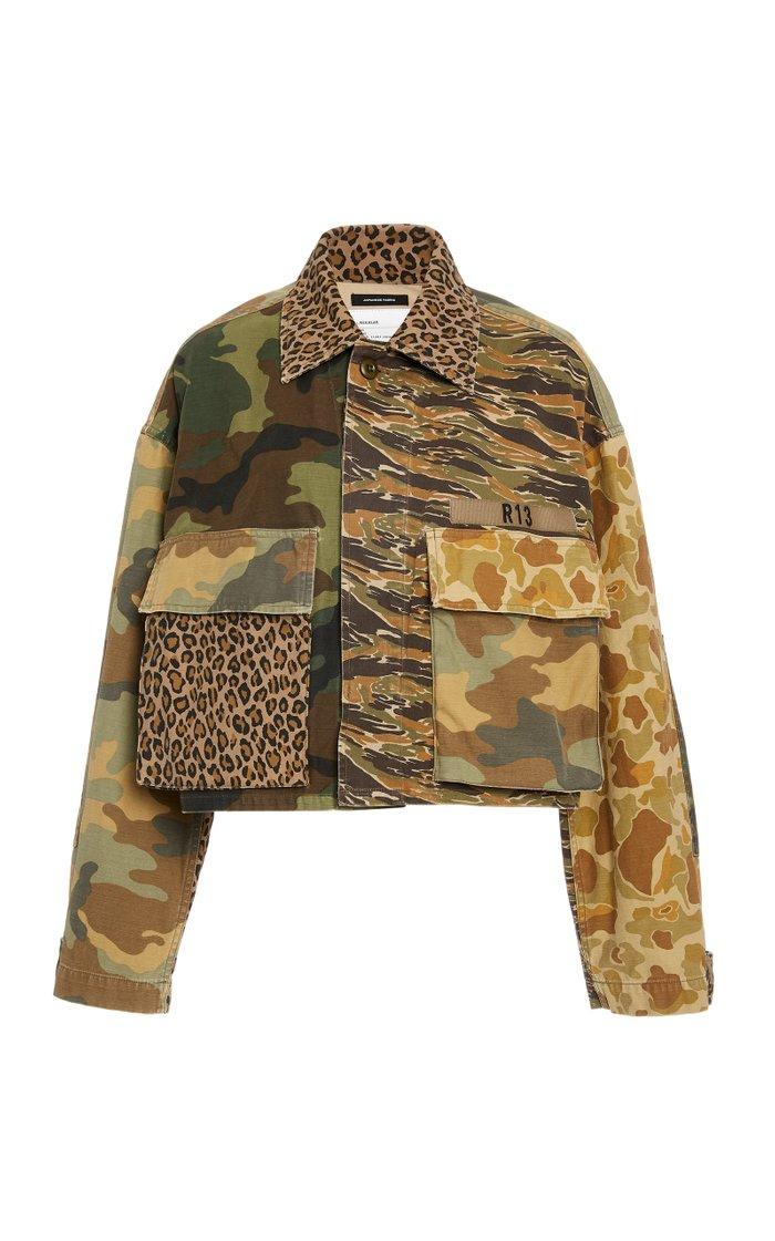 Abu Camo Cropped Jacket