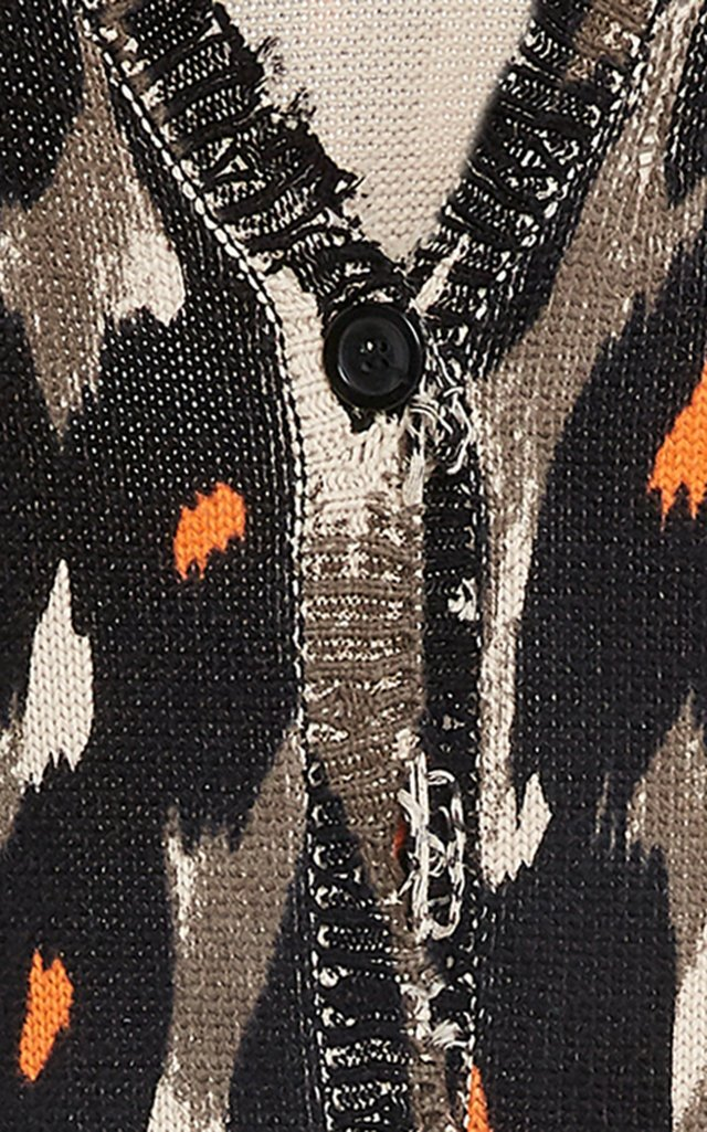 Long Leopard Print Cardigan