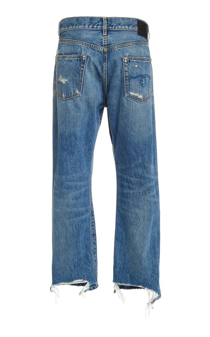 Boyfriend Rigid Low-Rise Straight-Leg Jeans