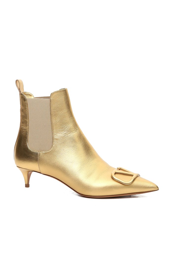 Valentino Garavani Metallic Leather Boots