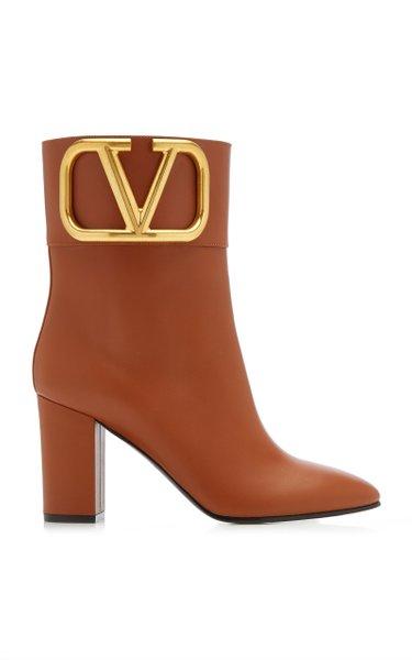Valentino Garavani Embellished Leather Ankle Boots