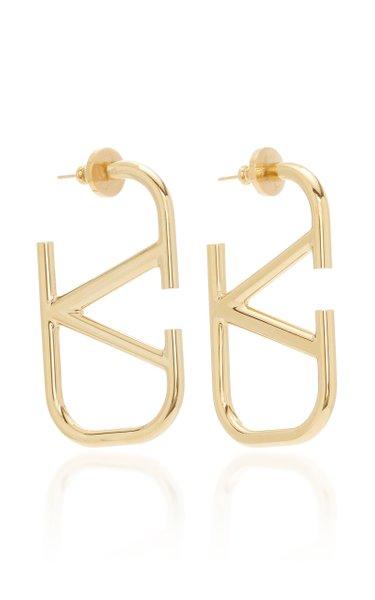 Valentino Garavani VLOGO Gold-Tone Hoop Earrings