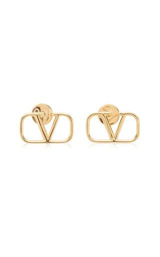 Valentino Garavani VLogo Metal Stud Earrings