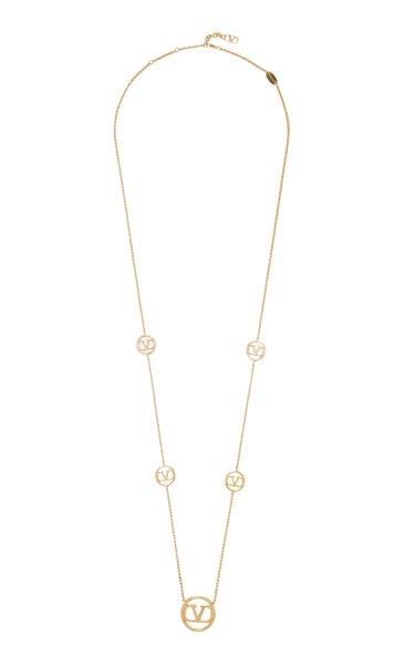 Valentino Garavani VLogo Gold-Tone Necklace