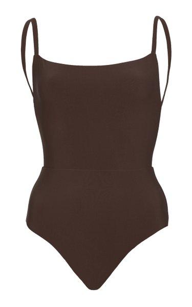 Open-Back One-Piece Swimsuit