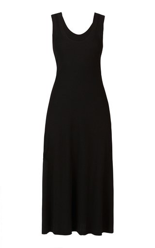 Cotton-Jersey Midi Dress