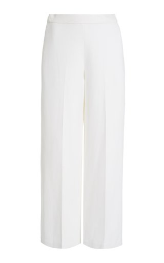 Crepe Straight-Leg Trousers