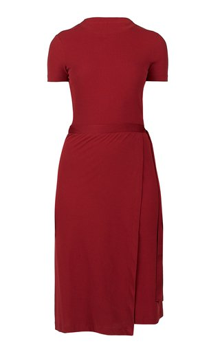 Wrap-Effect Cotton-Jersey Dress