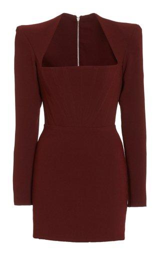 Benison Square-Neck Crepe Mini Dress