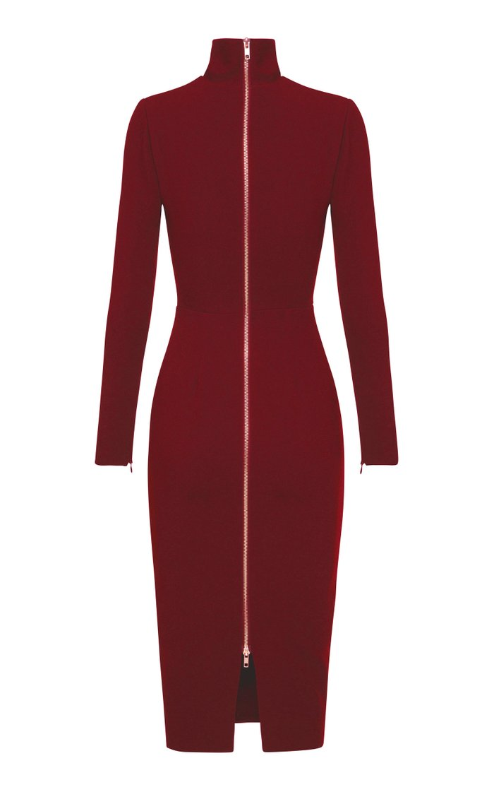 Lauchlan Crepe Turtleneck Midi Dress