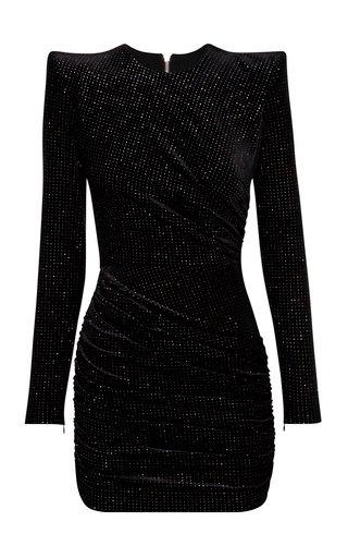 Raine Glittered Velvet Mini Dress